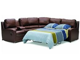 Leather Full Sleeper Sofa Acadia Palliser Leather Sleeper Sectional Town And Country