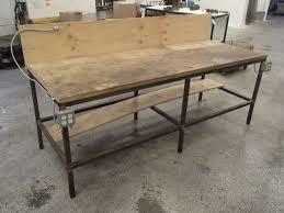 wood top work table steel frame wood top work bench 8 x 39 x 50