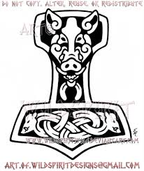wild boar thor s hammer design by wildspiritwolf on deviantart