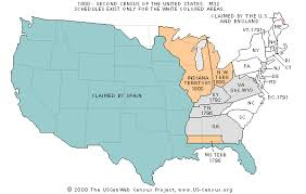 map usa in 1800 the usgenweb census project
