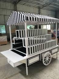 flower cart large wood flower cart rolling display cart outdoor flower cart