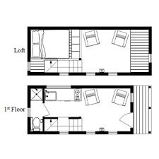 cottage floor plans with loft the mcg tiny house with staircase loft photos and plans