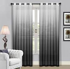 Ombre Sheer Curtains Beverly Window Treatment Collection Fabric Ombre