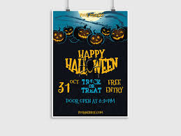 happy halloween flyer template creatily market
