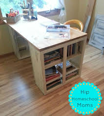 Diy Craft Desk With Storage Diy Craft Desk Hack Hip Homeschool