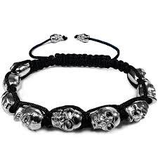 bracelet skull images 10mm 9 silver color skulls stone bead bracelet gif