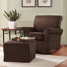 Recliner Chair With Ottoman Furniture Brown Rocking Walmart Recliner With Cube Ottoman On
