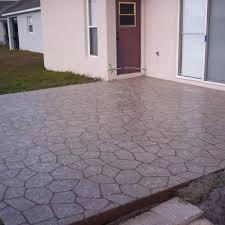 Photos Of Concrete Patios by Rubberdek Com U003e Photo Gallery U003e Stenciled Concrete U003e Patio