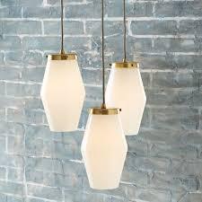 mid century ceiling light mid century glass pendant west elm