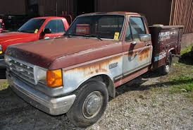 Ford F250 Service Truck - 1989 ford f250 utility bed truck vin 2fthf25mxkcb49102 7 3 power