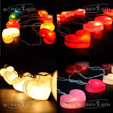 Red Heart Fairy Lights by Paper Lantern Lights For Bedroom Heart Paper Lanterns String