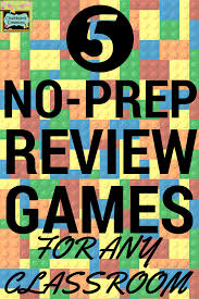 5 no prep review games for any classroom and any subject review