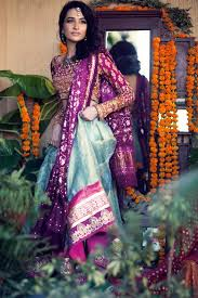 purple pakistani bridal dresses 2017 for barat walima