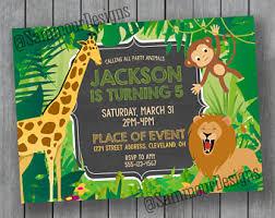 gold safari birthday invitation jungle birthday invitation