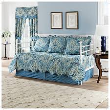 waverly moonlit shadows reversible daybed quilt set in lapis bed