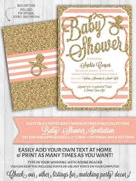 pink and gold baby shower invitations baby shower invitations blush pink stripes gold glitter