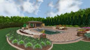 Backyard Pool With Lazy River by River Falls Swimming Pool 3d Design Rendering Youtube