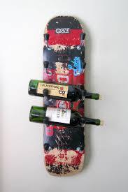 skateboard wine rack unique wine racks skateboard decks and
