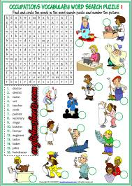 esl printable word games for adults jobs occupations professions esl printable word search puzzle