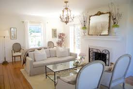 Living Room Ideas With White Leather Sofa Intresting Living Room With Gold Frame Wall Mirror Furniture And