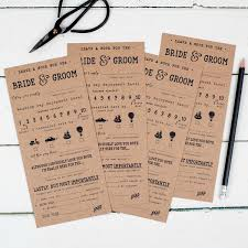wedding advice card pack of 10 wedding groom score cards