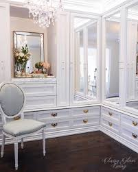 dressing room walk in closet mirror cabinet doors closet drawers