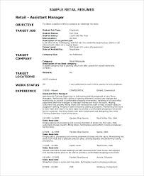 retail resume exles retail resume objective resume retail assistant manager