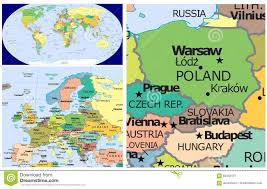 World Map Hungary by Poland Slovakia Hungary U0026 World Stock Illustration Image 83438101
