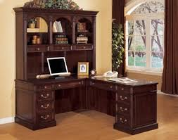 L Shaped Office Desk With Hutch Traditional Contemporary Home Office Furniture Of Wood Veneer