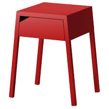 End Table Charging Station by Selje Nightstand Red Ikea