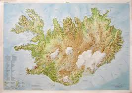 iceland map iceland wall map stanfords