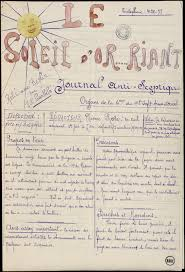 news paper writing le soleil d or riant riant