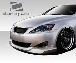 lexus is 250 gray free shipping on duraflex 06 08 lexus is250 is350 i spec front lip