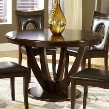 homelegance vanbure 5 piece round pedestal dining room set in rich