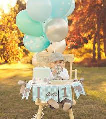 baby boy 1st birthday themes i am one highchair banner 1st birthday boy i am 1 high
