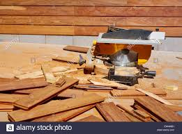 Wood Saw Table Ipe Wood Fence Installation With Carpenter Table Circular Saw And