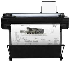 hp designjet t520 36 large format color inkjet printer by office