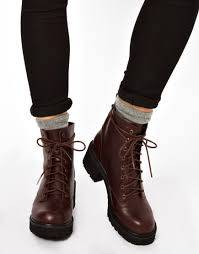 womens boots asos lyst asos apart lace up ankle boots in brown
