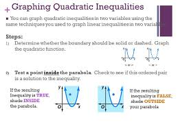 6 7 graphing and solving quadratic inequalities ppt video online