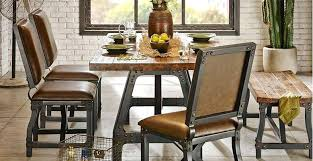 Brown Leather Chairs For Dining Metal Dining Chair Industrial Industrial Style Brown Leather