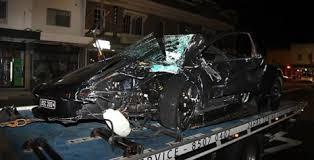Black Mustang Crash Lamborghini Murcielago Crashed By 22 Year Old Showing Off