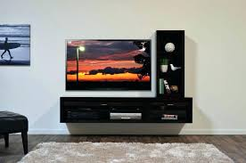 tv stand homcom floating tv stand wall mounted tv cabinet media