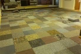 Carpet Tiles In Basement Carpet Tile Transition Tile Transition