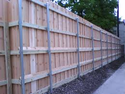 iron fences 38 8 foot board on board fence with metal posts