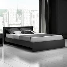 Modern White And Black Bedroom Modern Black Queen Platform Bed Frame Cool Designs Queen Beds