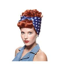 rosie the riveter costume we can do it womens wig