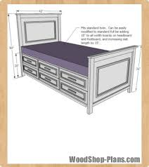 cool twin bed plans with storage and diy twin storage bed shanty 2