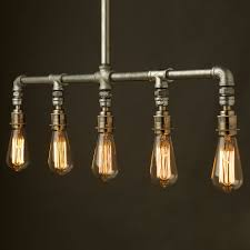 industrial pipe light fixture vintage galvanised plumbing pipe chandelier this light fitting can