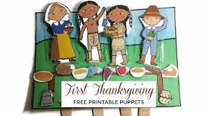 Thanksgiving Story For Preschool Learning About The Thanksgiving Story With Printable Puppets