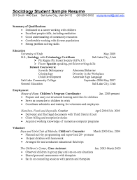 Example Student Resumes Very Good by Sociology Student Resume Example Http Resumesdesign Com